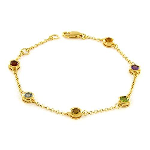Tous mes bijoux - Bracelet - Or jaune 9 cts - Citrine - 18 cm - BRHR01005