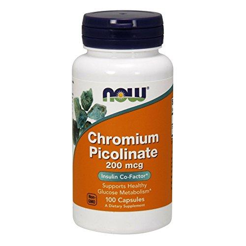 NOW Chromium Picolinate 200 mcg,100 Veg Capsules ()