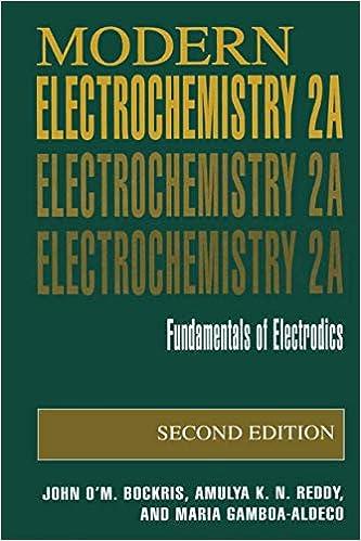 Fundamentals of Electrodics Modern Electrochemistry 2A