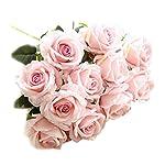 Crt-Gucy-Artificial-Flowers-Long-Stem-Silk-Rose-Flower-Bouquet-Wedding-Party-Home-Decor-Pack-of-6-Light-Pink