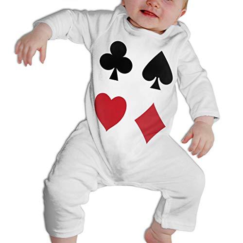 Price comparison product image Poker Card Soft Cotton Comfotable Unisex Body Long Sleeve Romper