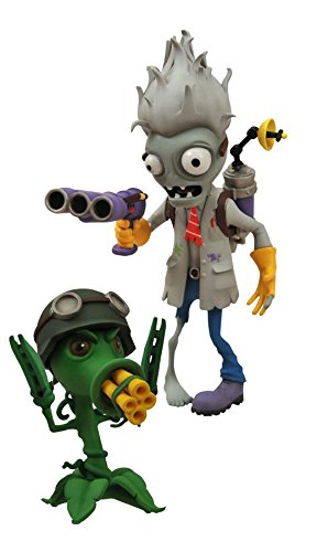 Diamond Select Toys – Plantas Vs. Zombies: Garden Warfare: Scientist Zombie con estación