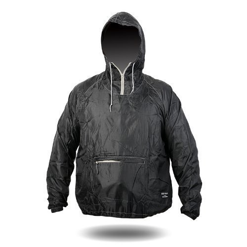 4ucycling+Raincoat+-+Easy+Carry+Wind+Rain+Jacket+By+4ucycling+-+A+178g+Rain+Coat+Outdoor+Poncho%2C+Black%2C+One+Size