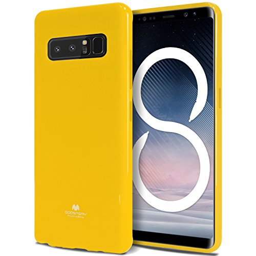 - Goospery Pearl Jelly for Samsung Galaxy Note 8 Case (2017) Slim Thin Rubber Case (Yellow) NT8-JEL-YEL