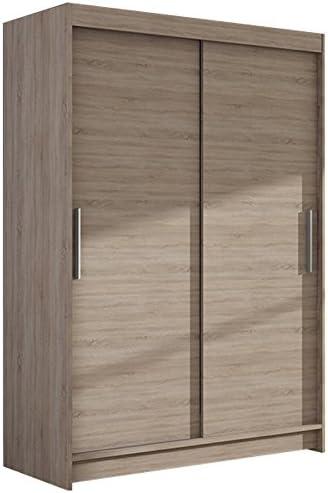 Ye Perfect Choice Nuevo moderno armario dormitorio 2 puerta corredera armario Vegas I ancho 120 cm: Amazon.es: Hogar