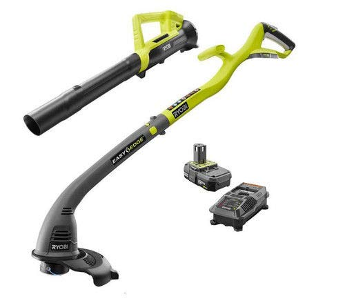 Ryobi ONE+ 18-Volt Lithium-Ion Corless 10' String Trimmer&Blower KIT