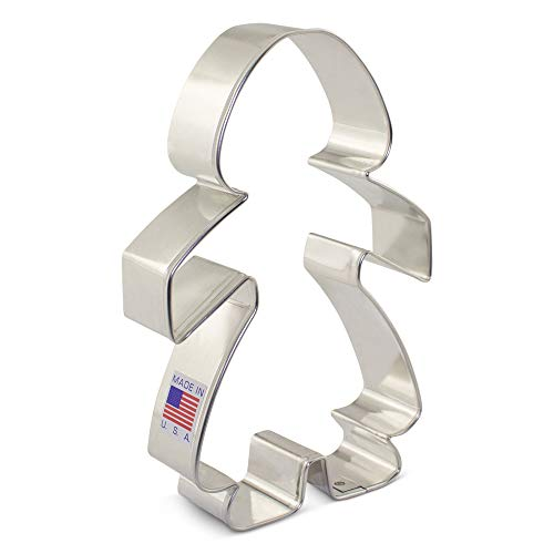Girl/Paper Chain People Cookie Cutter - 5 Inch - Ann Clark - USA Made Steel (Girl Cookie Cutter)