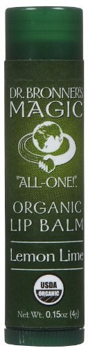 Dr. Bronner s Magic Organic Lip Balm Lemon Lime - 0.15 Oz, 12 Pack by Dr. Bronner's