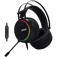 "GameBooster,  H8 ""Ghost Shark"",Rainbow RGB LED 7.1 Titreşimli Siyah Oyuncu Kulaklığı"