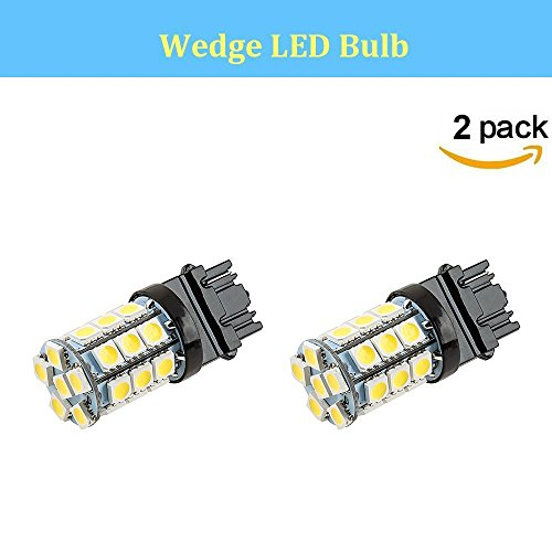 Makergroup 3156 LED Light Bulbs Wedge Base Amber Color Bulbs 4W 12-30V for Automotive Side Marker Lights Turn Lights Tail Lights Reverse Lights Brake Lights 2-Pack (Amber Wedge Base)