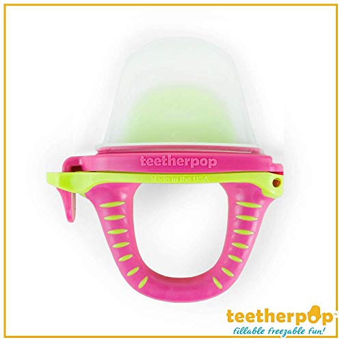 Fillable, Freezable Teethers for Purees, Smoothies, Juices & More (Baby Teether is USA Made & BPA Free) - Single Pack