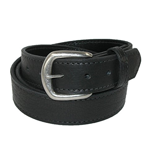 - Boston Leather Men's Big & Tall Bison Leather Belt with Removable Buckle, 52