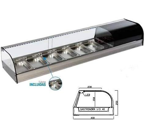 Vitrina de Tapas 10 bandejas - Maquinaria Bar Hostelería: Amazon.es: Hogar
