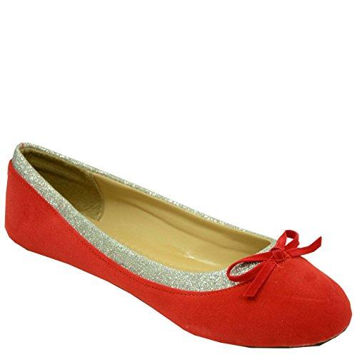 vestir Rojo Sandalias Fashion Cucu de para rojo de Material Sintético mujer ptqHtzxg