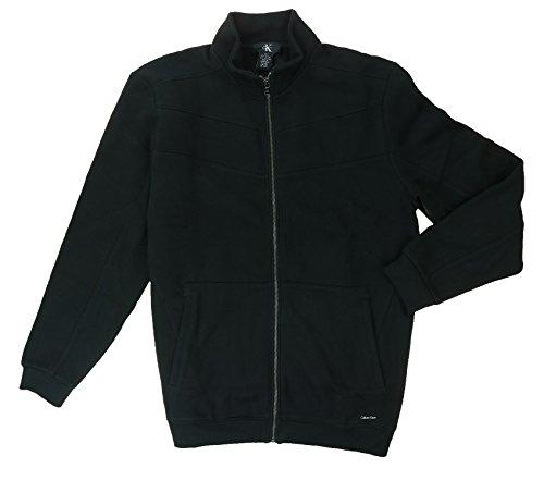 Calvin Klein Jeans Mern's Full-Zip Fleece Sweater Jacket, Black, Medium
