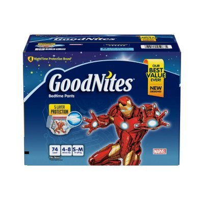 GoodNites Bedtime Underwear for Boys (Size 4 - 8 Boys - 74 ct.)