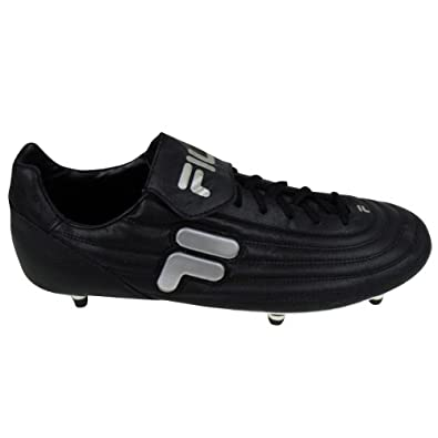 a9c0a12cc357 Mens Fila Black Silver Soft Ground Football Boots Soccer Cleat Size UK 12:  Amazon.co.uk: Shoes & Bags