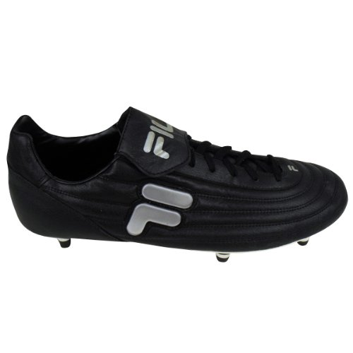 b12c4ae2b59 Mens Fila Black Silver Soft Ground Football Boots Soccer Cleat Size UK 12:  Amazon.co.uk: Shoes & Bags
