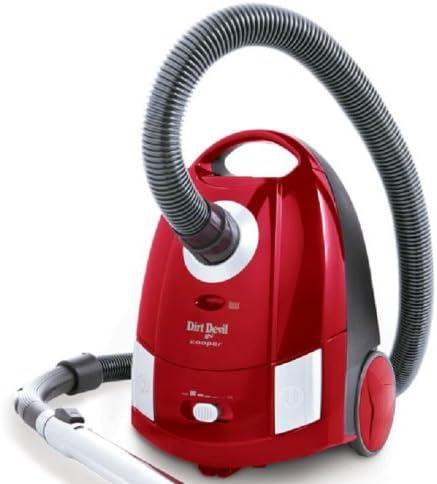Dirt Devil M7008-1 Cooper - Aspiradora (2000 W), con cepillo turbo y para parqué, 10 bolsas, color rojo y plateado: Amazon.es: Hogar