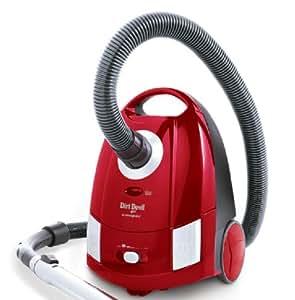 Dirt Devil M7008-1 Cooper - Aspiradora (2000 W), con cepillo turbo y para parqué, 10 bolsas, color rojo y plateado