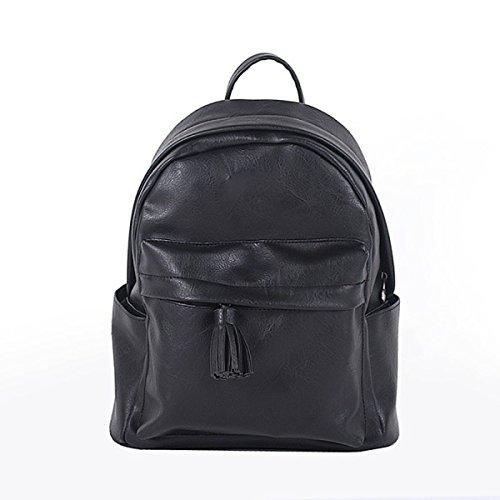 Bolso De La Escuela De Cuero Del Bolso De Hombro De La Manera De La Mochila De Las Señoras,PurpleGray Black