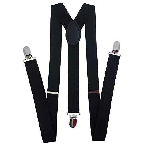 "1X Piano Clip-on 1/"" Suspenders Elastic Y-Shape Costume Tuxedo Prom"