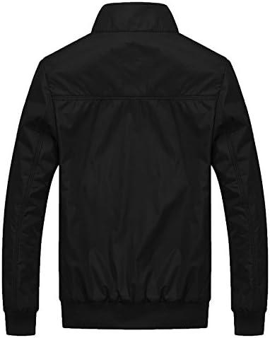 Mens Casual Jacket Outdoor Sportswear Windbreaker Lightweight Bomber Jackets and