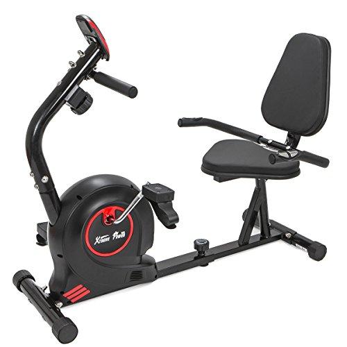 XtremepowerUS Recumbent Fitness Bike Magnetic Stationary Bike For Gym Home Cardio