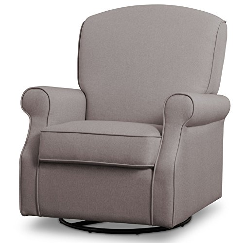 Delta Children Parker Nursery Glider Swivel Rocker Chair, Heather Grey by Delta Children