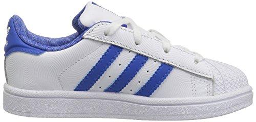 Adidas Originals Barn Superstar Sneaker (big Kid / Litet Barn / Barn / Spädbarn) Vit / Blå / Kollegialt Royal