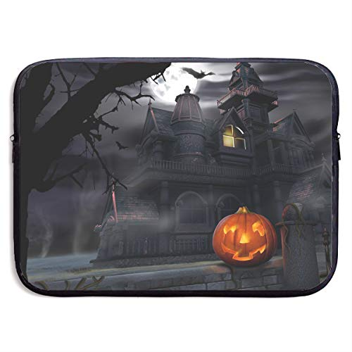 Teesofun Business Briefcase Sleeve Halloween Pumpkin Castle Art Portable Laptop Protective Bag Linner for MacBook Pro/MacBook Air/Asus/Dell]()