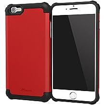 iPhone 6s Plus Case, roocase [Exec Tough PRO] iPhone 6s Plus Slim Fit Case Hybrid PC / TPU [Corner Protection] Armor Cover Case for Apple iPhone 6 Plus / 6s Plus (2015), Carmine Red