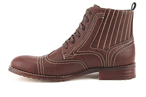 Mens Ferro Aldo 806011 Spets-up Perforerad Vingspets Militära Mode Klänning Boots Brun