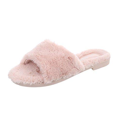 Pantuflas Zapatillas Rosa Tacón Ancho Mujer Para Zapatos Design Ital qIwx1v0Pq