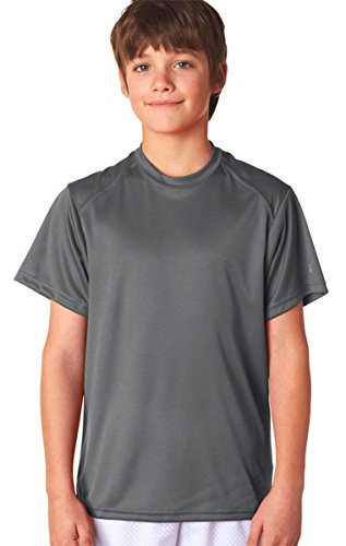 Badger - Youth B-Dry Core T-Shirt with Sport Shoulders - 2120 - M - Graphite