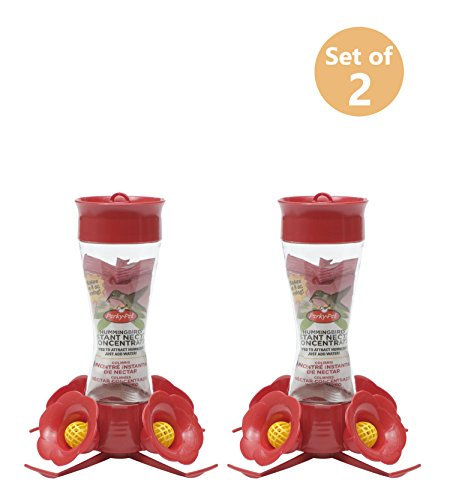 Perky Pet 203CPBN 8 Oz Clear Glass Hummingbird Feeder Set of 2