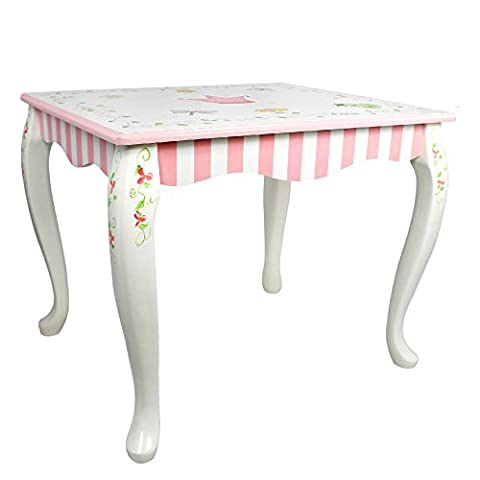 Fantasy Fields - Princess & Frog Thematic Hand Crafted Kids Wooden Table and 2 Chairs Set |Imagination Inspiring Hand Crafted & Hand Painted Details Non-Toxic, Lead Free Water-based Paint
