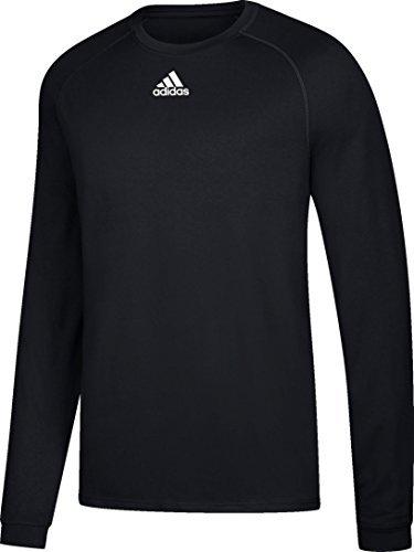 Adidas Mens Climalite Long Sleeve Shirt, Black, X-Large
