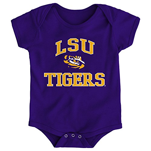 Gen 2 NCAA LSU Tigers Newborn & Infant Primary Logo Bodysuit, 24 Months, Dark Red