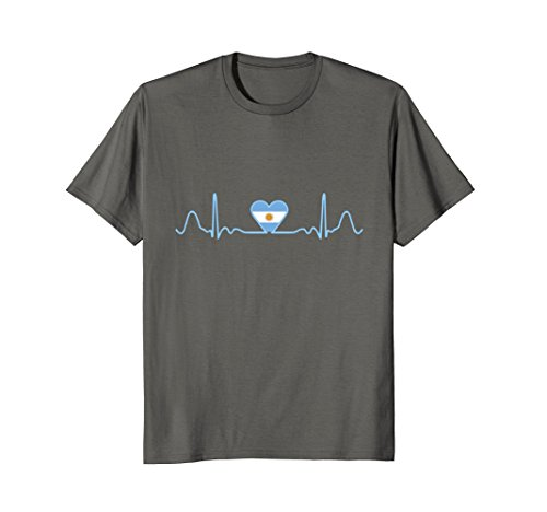Argentina Flag Heartbeat T-Shirt - Proud Argentine Cool Tee