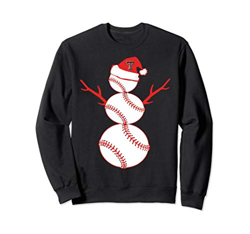 Texas Tech Red Raiders Baseball Snowman Sweatshirt - Apparel