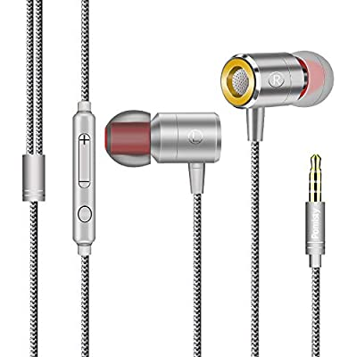 Pomisty Ear Headphones In Ear Earphones with Microphone Noise Isolating Extra Bass Wired Earbuds for iPhone  iPad  iPod  Samsung Galaxy  Huawie MP3 and All 3 5mm Audio Device