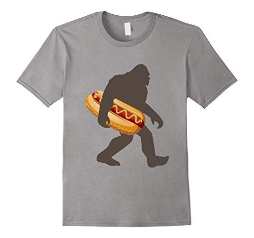 Believe Dog T-shirt - Bigfoot Carrying hotdog T Shirt, Funny Sasquatch Gift
