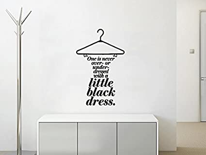 Wall Decals Quotes Dress Quote Little Black Dress Clothes Lettering
