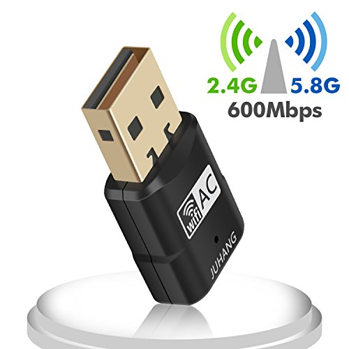 JUHANG AC 600M Wireless USB adapter Dual Band (2.4G/150Mbps+5.8G/433Mbps), Wireless USB Dongle Antenna Network Adapter Works with Any WiFi Routers, The Unique Design Brings free Wireless Digital Life by JUHANG