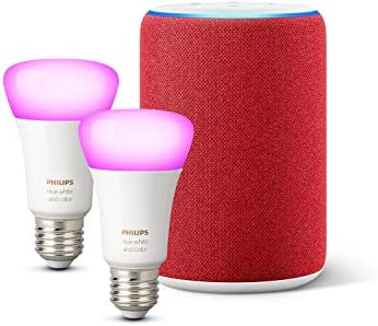 Amazon Echo (3.ª generación), edición (RED) + Philips Hue White ...