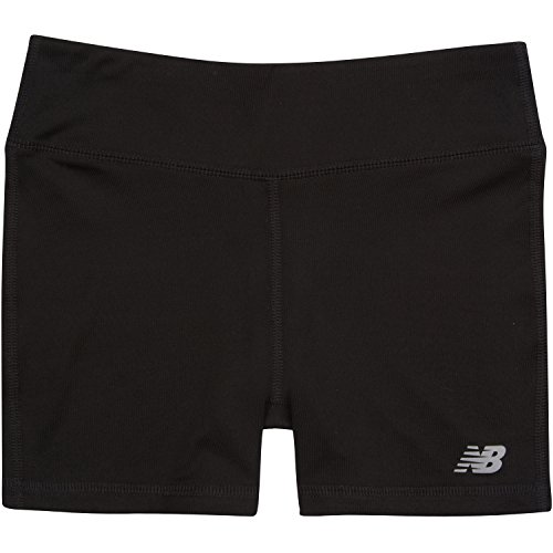 New Balance Little Girls' Performance Bike Shorts, Black, 4