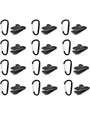 24 Pcs Tarp Clips with Carabiner Clip, Heavy Duty Thumb Screw - Strong Lock Grip Tent Clamps for Car Awnings Outdoor Camping Caravan Canopy Car Covers Swimming Pool Covers