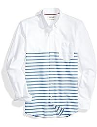 Amazon Brand - Goodthreads Men's Slim-Fit Long-Sleeve Stripe Oxford Shirt