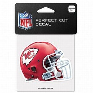 "NFL Kansas City Chiefs 95394010 Perfect Cut Color Decal, 4"""